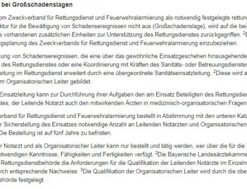 Neubestellung von Organisatorischen Leitern (OrgL) und Leitenden Notärzten (LNA) ab 01.01.2021